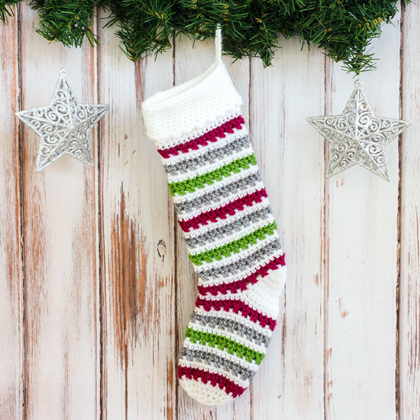 Luxury Crochet Christmas Stocking Pattern Dabbles & Babbles Crochet Pattern for Christmas Stocking Of Lovely Christmas Stockings Crochet Pattern for Christmas Stocking