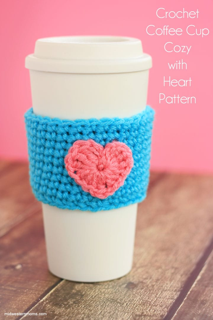 Luxury Crochet Coffee Cup Cozy Pattern with Heart Midwestern Moms Crochet Cup Cozies Of Wonderful 42 Pics Crochet Cup Cozies