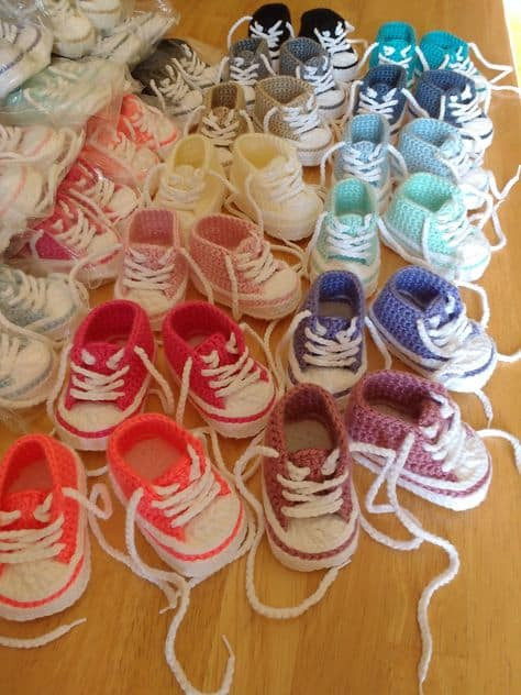 Luxury Crochet Converse Baby Booties Pattern Free Video Tutorial Crochet Converse Baby Booties Of Wonderful 41 Models Crochet Converse Baby Booties