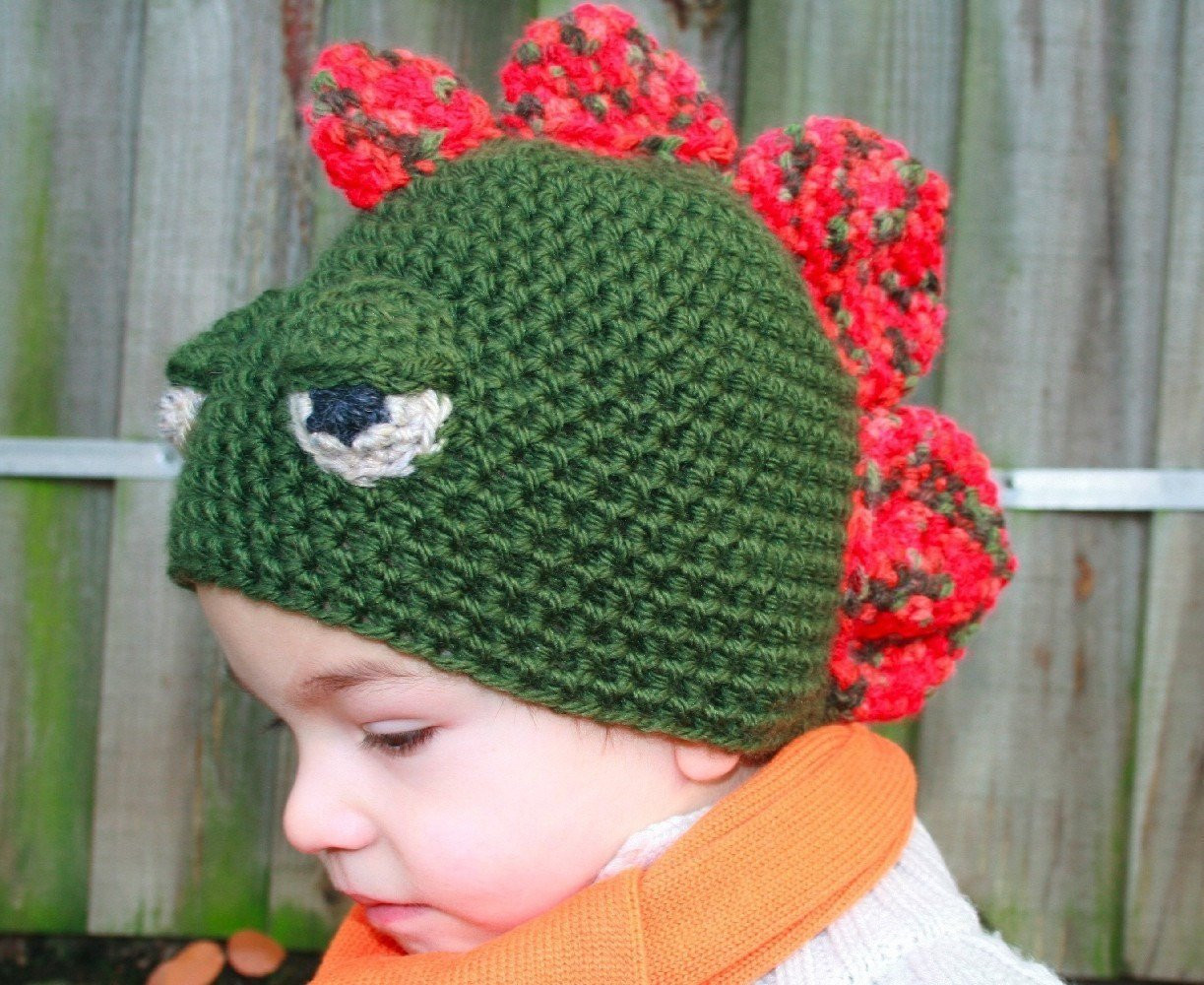 CROCHET HAT PATTERN crochet dinosaur hat pattern baby boy
