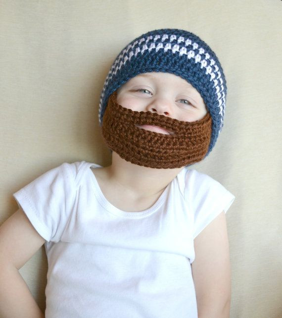 crochet hat with beard collection for babies 2015
