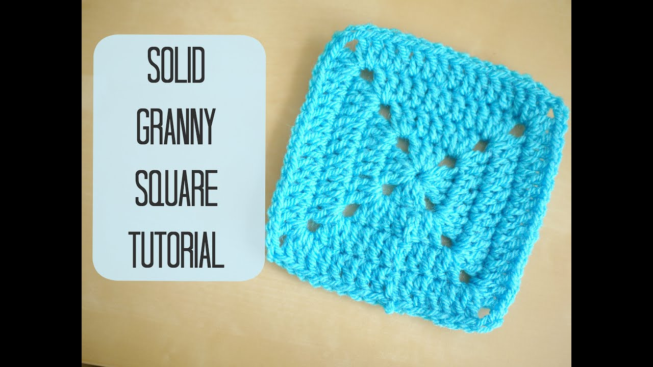 CROCHET How to crochet a solid granny square for