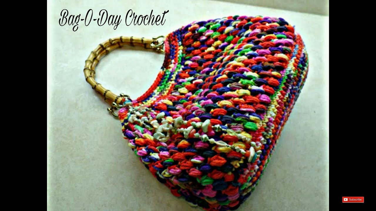 Luxury Crochet How to Crochet Puff Bean Stitch Handbag Purse Crochet Tutorial Youtube Of Amazing 43 Pics Crochet Tutorial Youtube