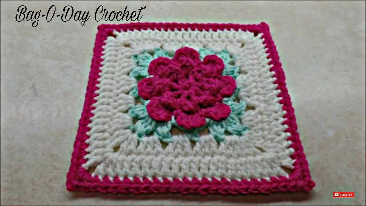 Luxury Crochet How to Crochet Rose Flower Granny Square Revised Crochet Flower Square Of Brilliant 47 Models Crochet Flower Square