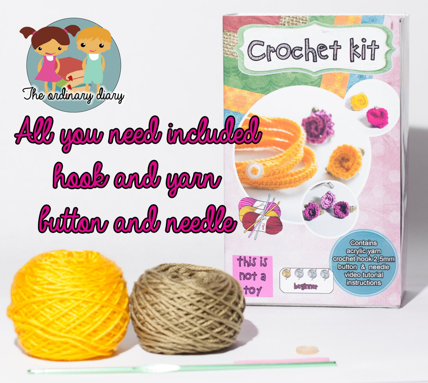 Luxury Crochet Kit Rose Ring & Bracelet Beginner by theordinarydiary Beginners Crochet Kit Of Amazing 49 Photos Beginners Crochet Kit