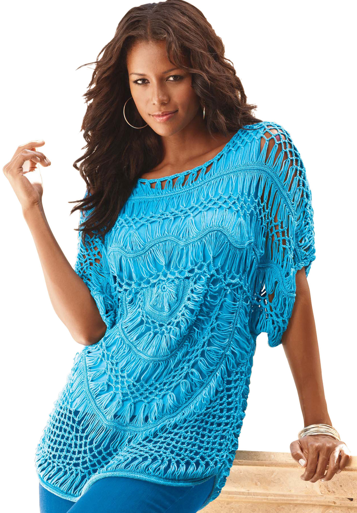 crochet lace top plus size
