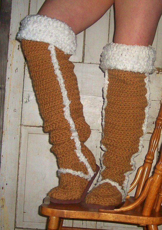crochet pattern boots thigh high uggs