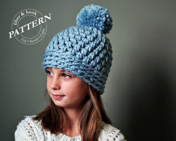 Luxury Crochet Pattern Chunky Pom Pom Beanie Crochet Pattern Chunky Crochet Hat Pattern Of Delightful 50 Ideas Chunky Crochet Hat Pattern