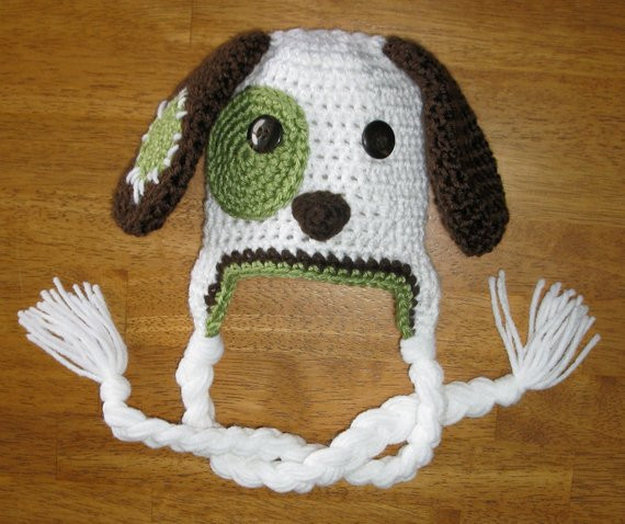 Luxury Crochet Pattern Hat Puppy Patchy Puppy Dog by Crochet Dog Hat Of Marvelous 45 Pictures Crochet Dog Hat