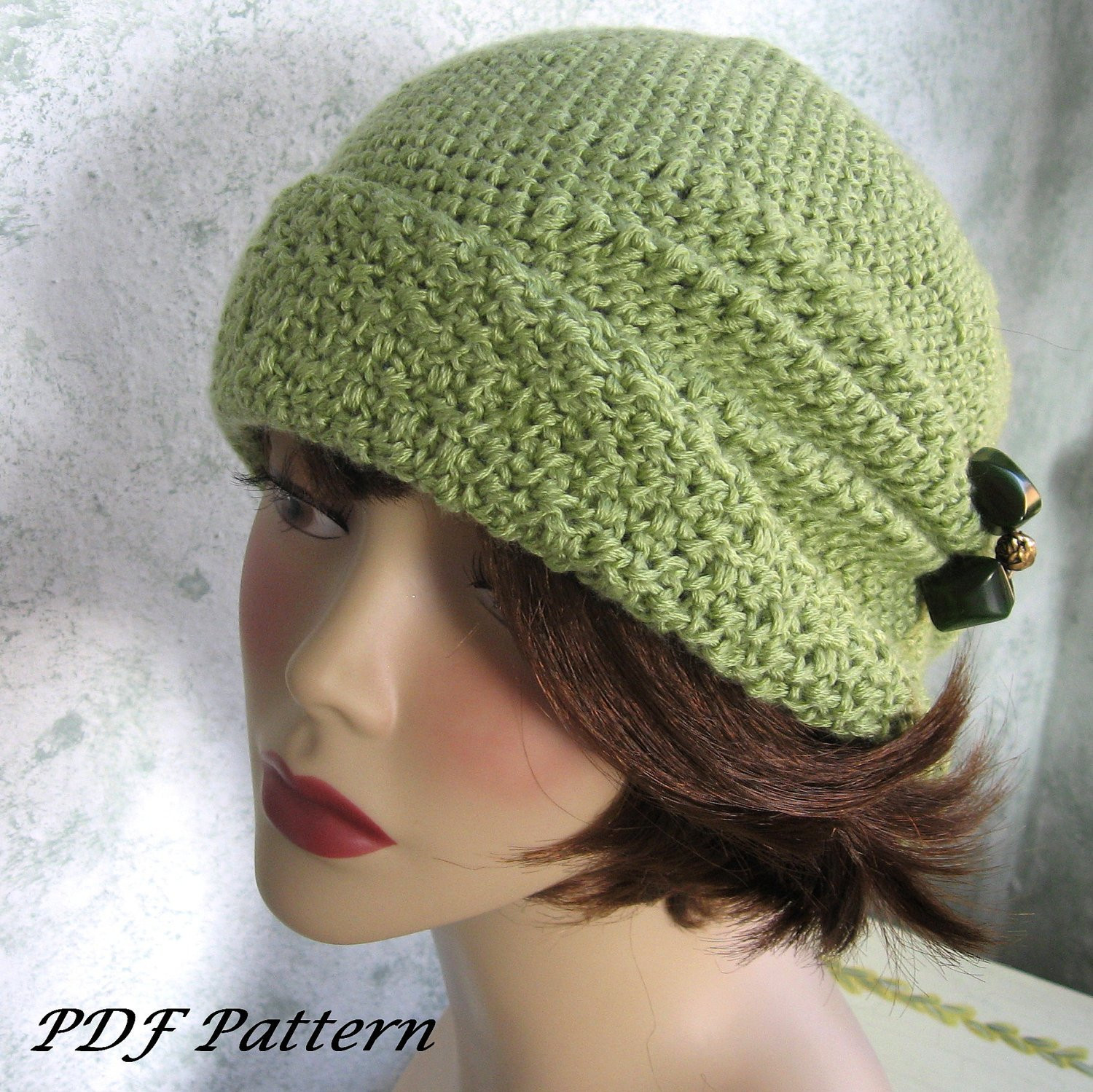 Luxury Crochet Pattern Womens Flapper Hat Cloche with Side Pinch Free Crochet Beanie Hat Pattern Of Amazing 48 Images Free Crochet Beanie Hat Pattern