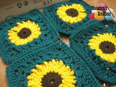 Luxury Crochet Patterns Galore Crocheted Sunflower Granny Square Sunflower Afghan Of Delightful 32 Pics Sunflower Afghan