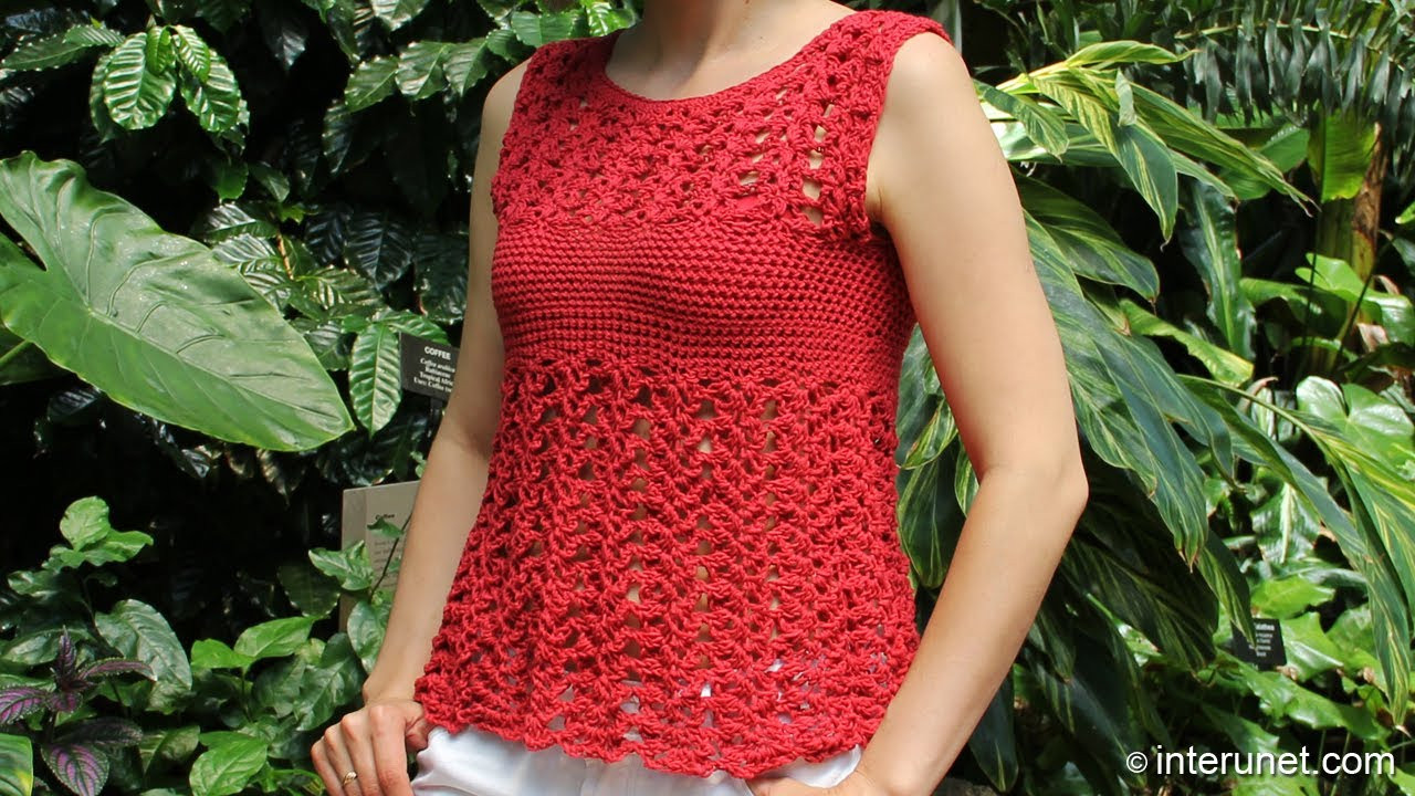 Luxury Crochet Red Azalea Stitch Summer top Crochet Blouse Of Superb 46 Models Crochet Blouse