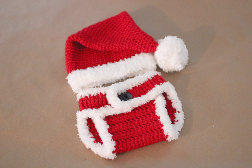 Luxury Crochet Santa Hat and Diaper Cover Repeat Crafter Me Crochet Baby Santa Hat Of Amazing 44 Images Crochet Baby Santa Hat
