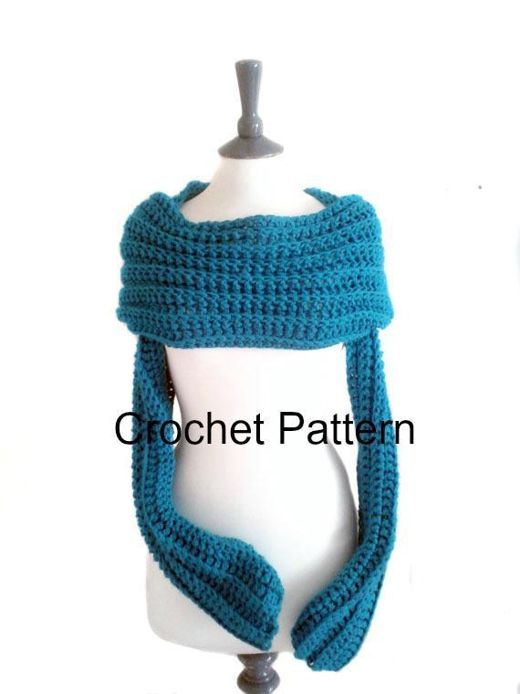 Luxury Crochet Sleeve Scarf by Carriecha Craftsy Scarf with Sleeves Of Lovely 40 Models Scarf with Sleeves