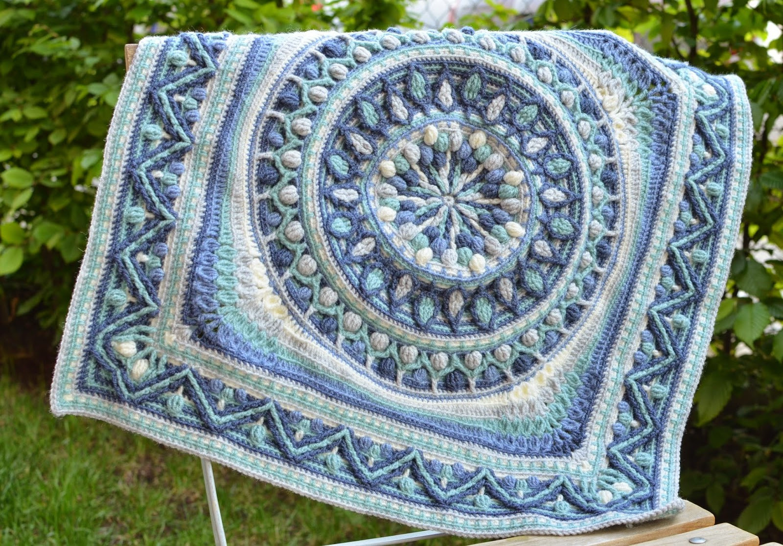 Crochet Squares or Second Life of Dandelion Mandala