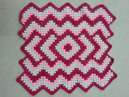 Crochet table mat