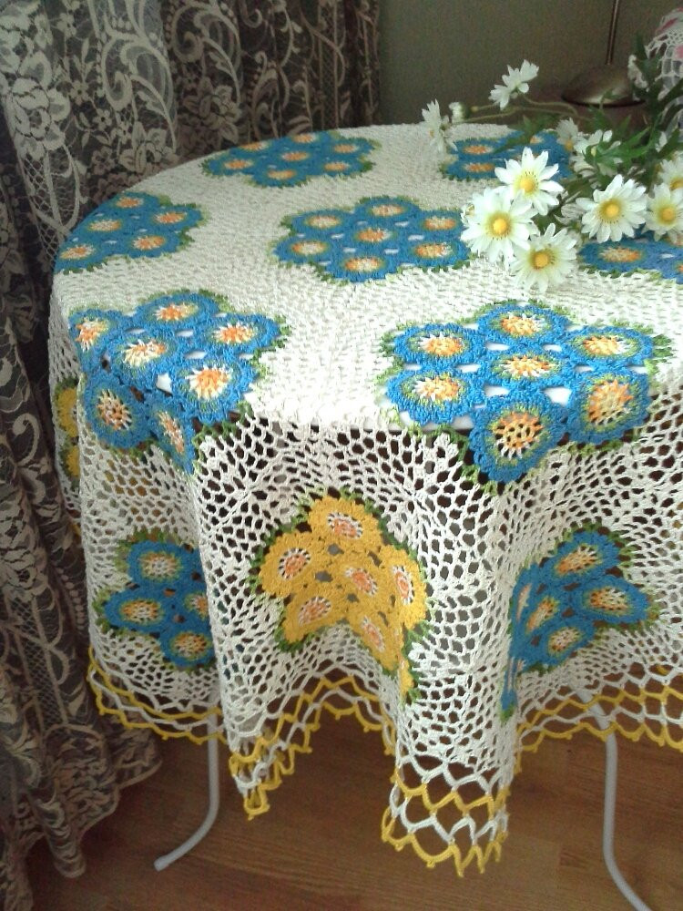 Crochet tablecloth Handmade crochet tablecloth Home decor