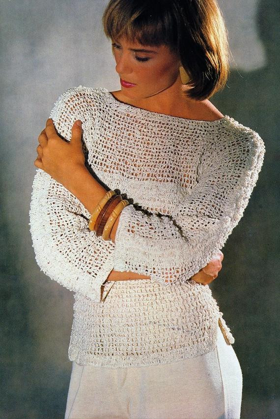 crochet womens sweater pattern easy