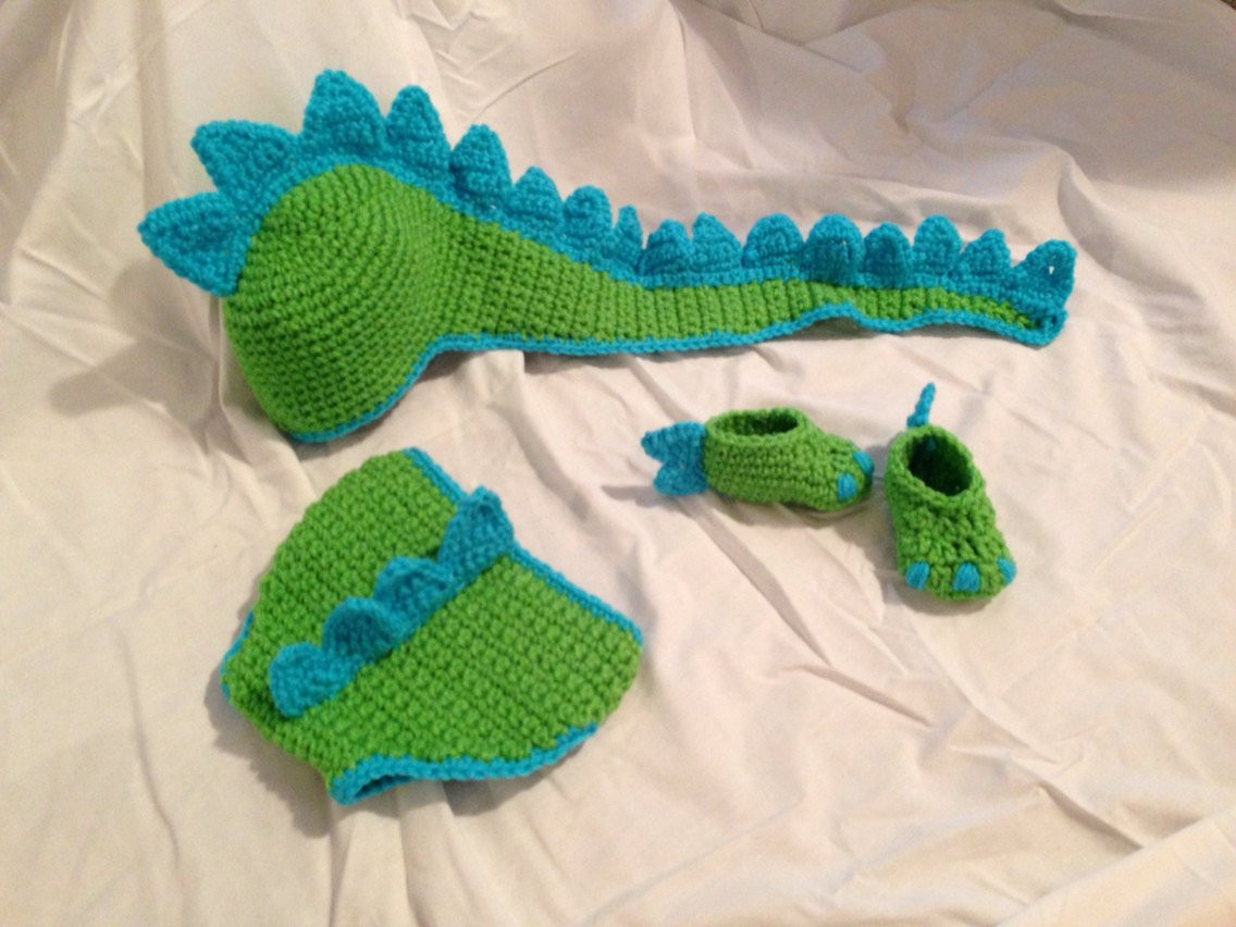 Luxury Crocheted Baby Dinosaur Hat Diaper Cover & Shoe Prop Set Crochet Baby Diaper Cover Of Wonderful 48 Photos Crochet Baby Diaper Cover