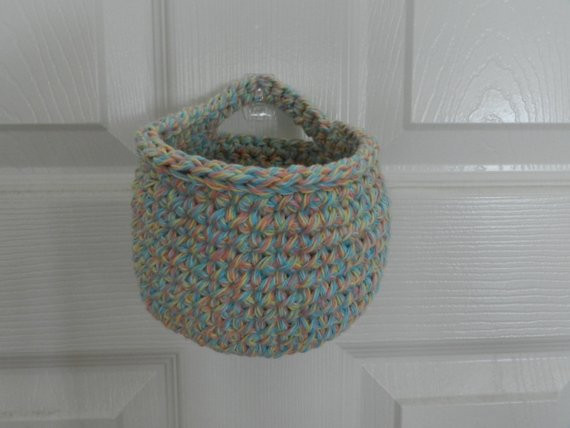 Luxury Crocheted Hanging Basket Small Crochet Basket Pastel Multi Crochet Hanging Basket Of Awesome 47 Photos Crochet Hanging Basket