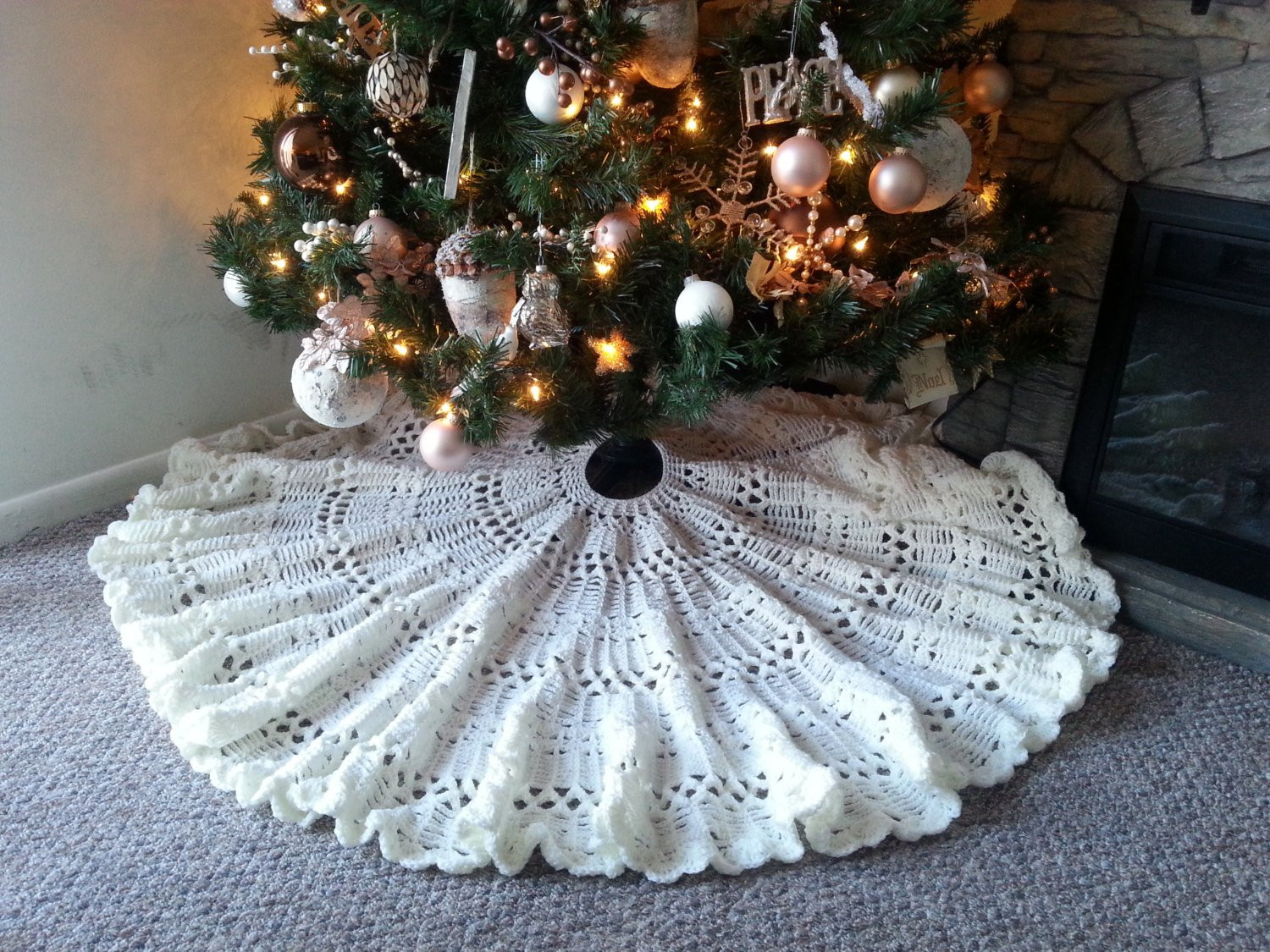 Luxury Crocheted Heirloom Christmas Tree Skirt Pattern Crochet Tree Skirt Of Innovative 45 Ideas Crochet Tree Skirt