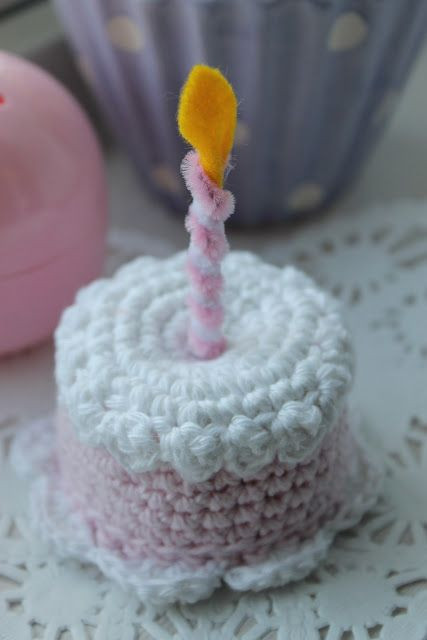 Luxury Crocheted Mini Birthday Cake with Candle Free Crochet Crochet Cake Of Incredible 40 Ideas Crochet Cake