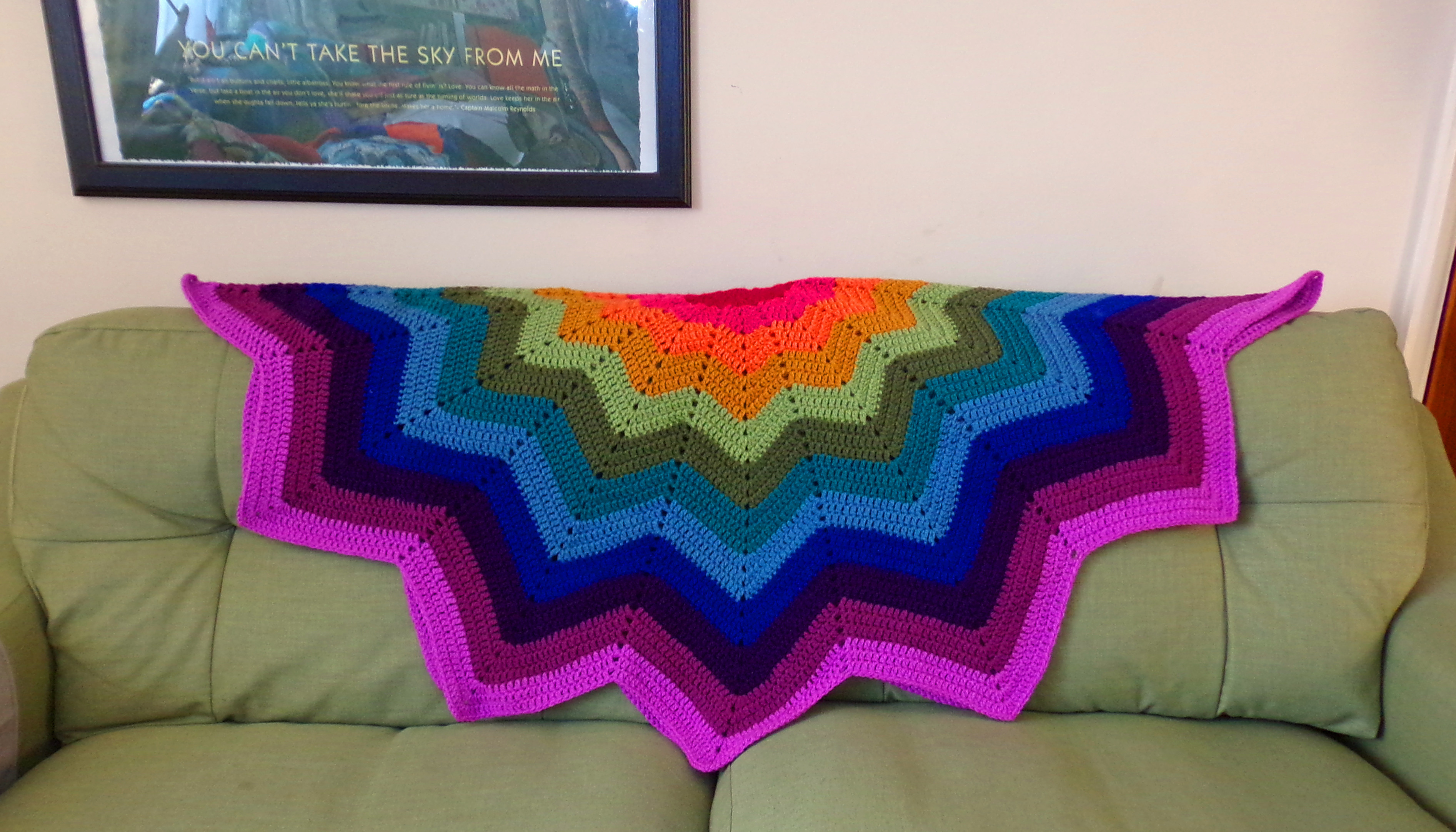 Luxury Crocheted Rainbow Ripple Star Blanket In All Its Crochet Star Blanket Of Superb 49 Images Crochet Star Blanket