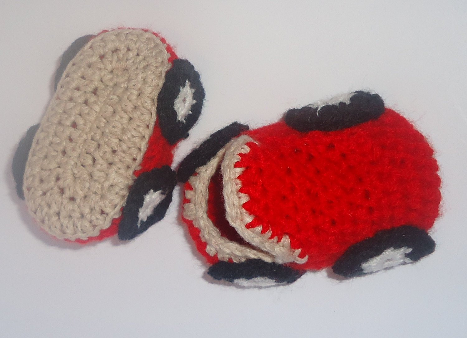 Luxury Cute Crocheted Red Car Slippers Shoes for Baby Crochet Baby Crochet toddler Slippers Of Delightful 50 Images Crochet toddler Slippers