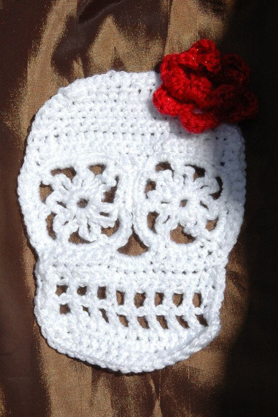 Luxury Day Of the Dead Sugar Skull Crochet Applique Crochet Sugar Skull Of Incredible 47 Pictures Crochet Sugar Skull