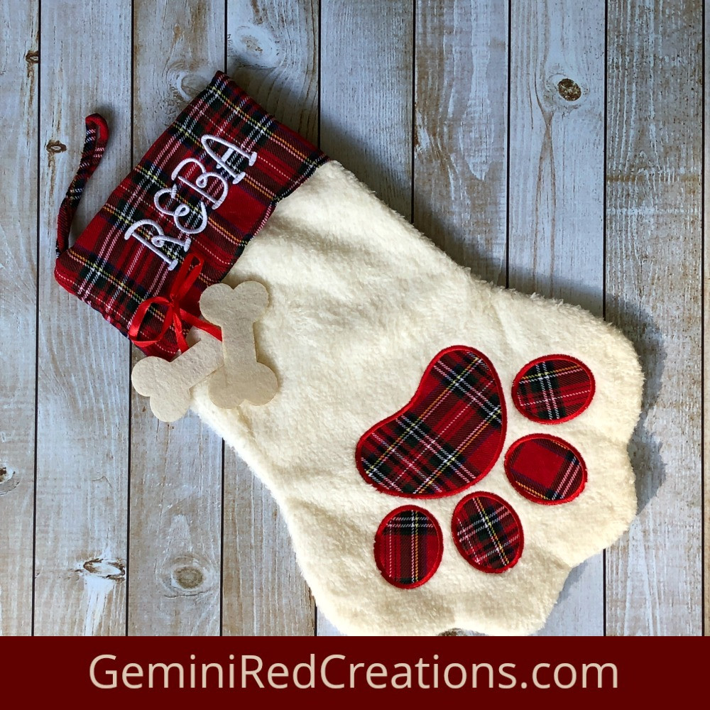 Luxury Dog Paw Monogrammed Christmas Stocking Geminired Creations Dog Paw Stocking Of Charming 44 Ideas Dog Paw Stocking