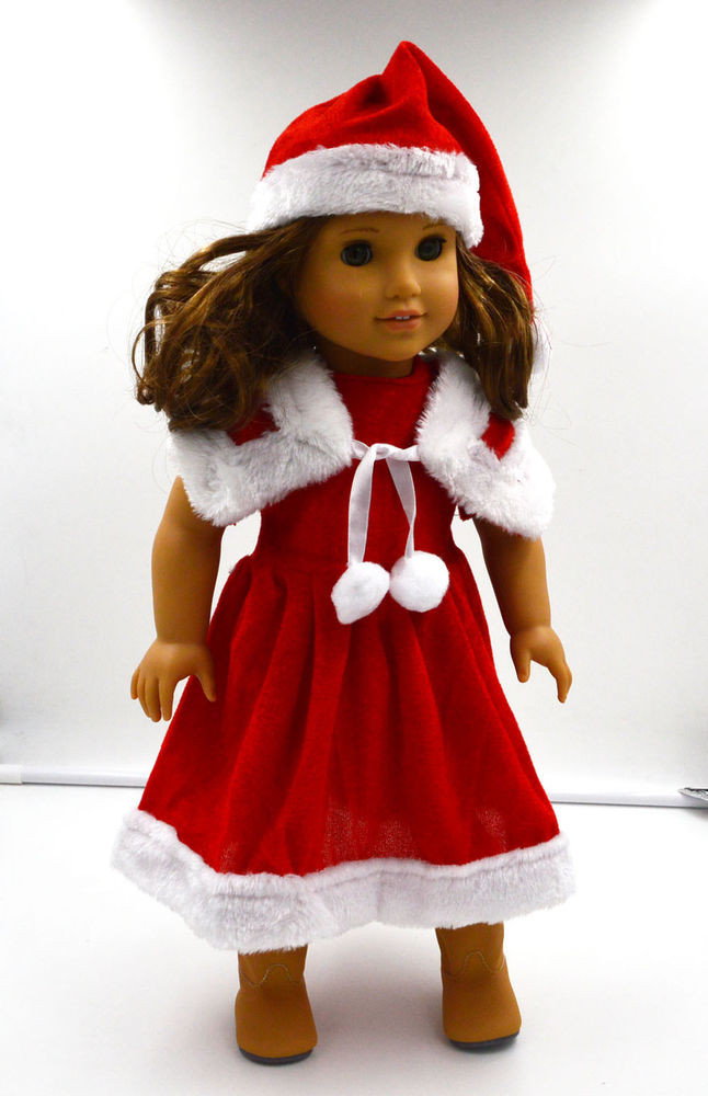 "Luxury Doll Clothes Fits 18"" American Girl Dolls 3pc Santa American Girl Doll Christmas Outfits Of Wonderful 40 Ideas American Girl Doll Christmas Outfits"