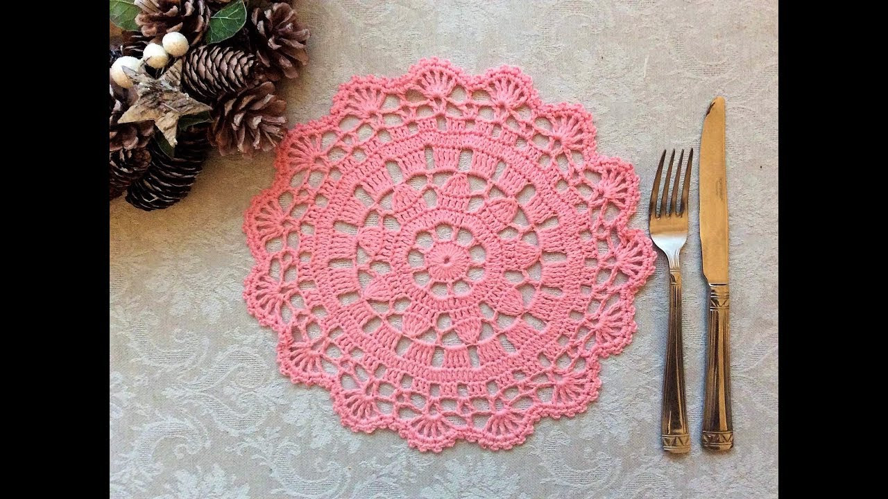 Luxury Easy Crochet Doily Placemat Tutorial Part 2 Of 2 Round 7 Crochet Tutorial for Beginners Of Fresh 44 Ideas Crochet Tutorial for Beginners