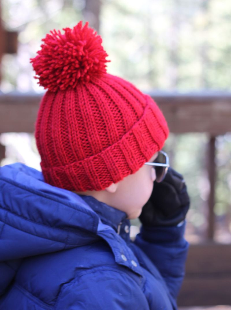 free pattern simple ribbed knit hat