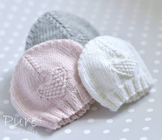EASY KNIT Preemie and Baby hat knitting pattern from