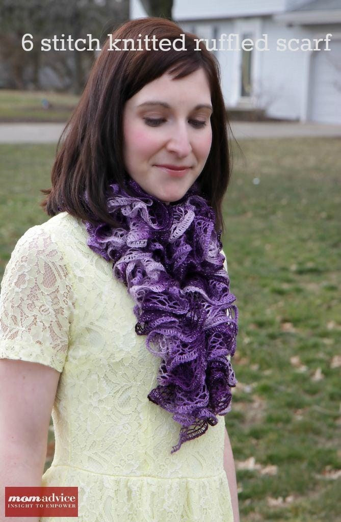 Luxury Easy Knitted Ruffled Scarf with Sashay Yarn Momadvice Knit Ruffle Scarf Of Marvelous 50 Pics Knit Ruffle Scarf