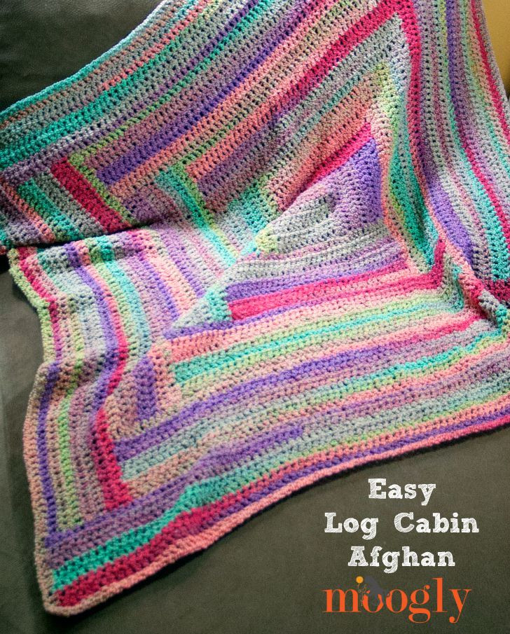Luxury Easy Log Cabin Afghan Moogly Easiest Crochet Blanket Of New 50 Images Easiest Crochet Blanket
