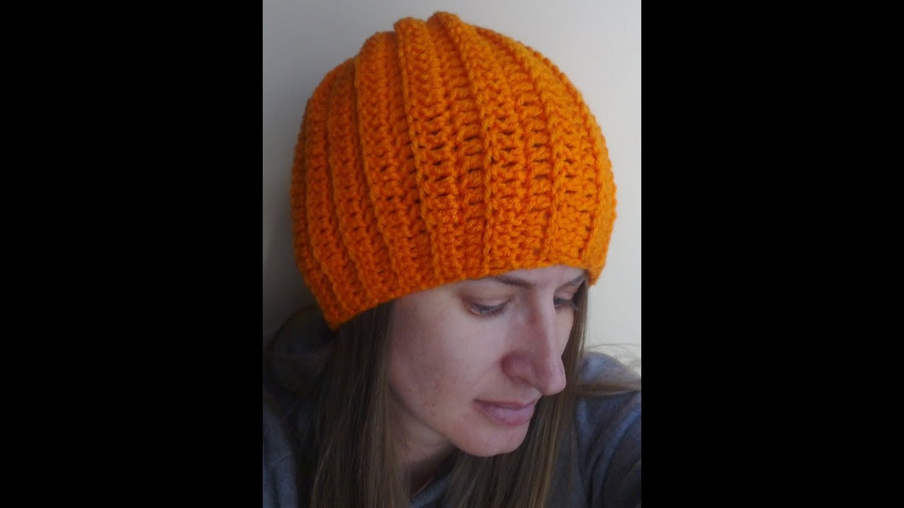 Luxury Easy Ribbed Hat Crochet Tutorial Can Be Made Into A S Crochet Hat Tutorial Of Amazing 45 Ideas Crochet Hat Tutorial