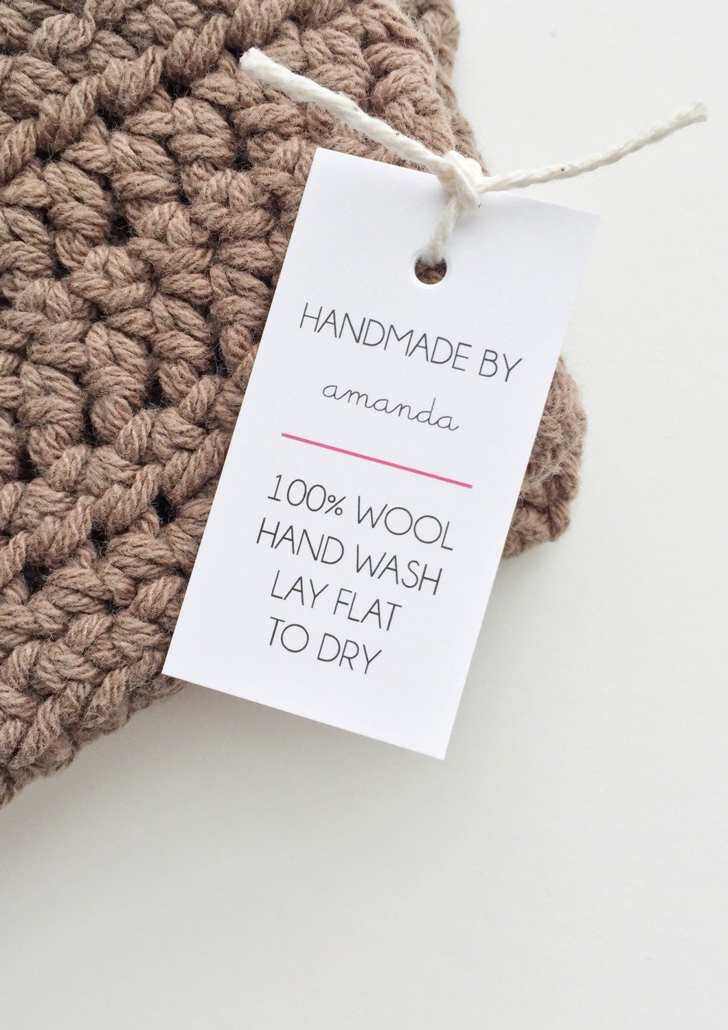 Etsy Shop Labels Handmade Tags Care Tags Handmade With Love