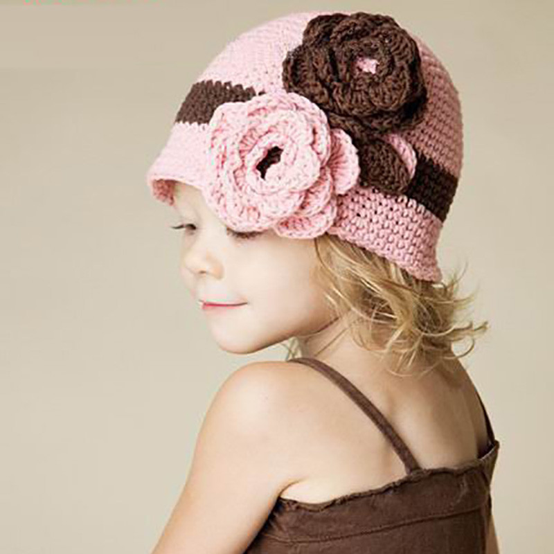 Luxury European and American Style Flower Baby Hat Kids Baby Crochet Flower for Baby Hat Of Beautiful 42 Ideas Crochet Flower for Baby Hat