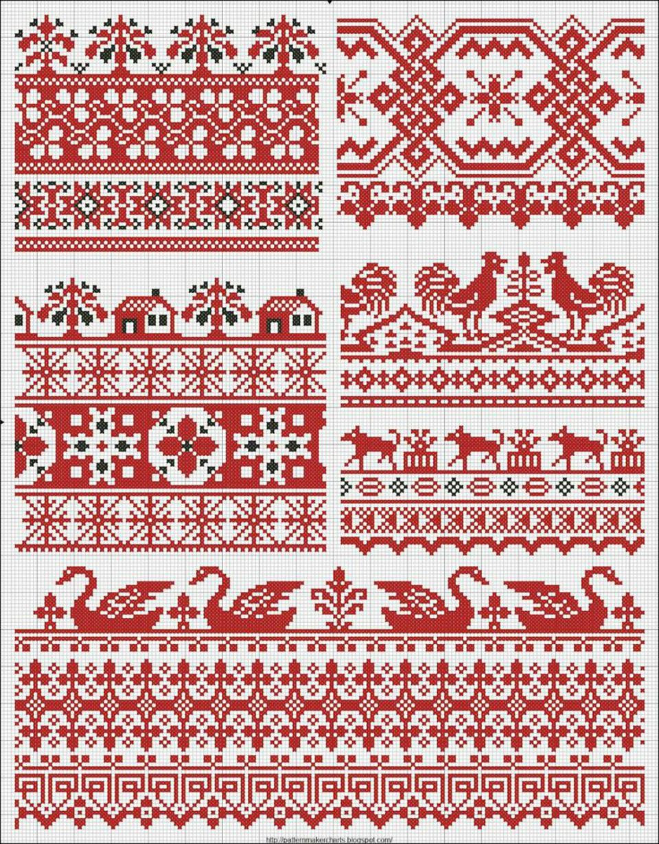 Fair Isle Inspired cross stitch pattern for everyone s style