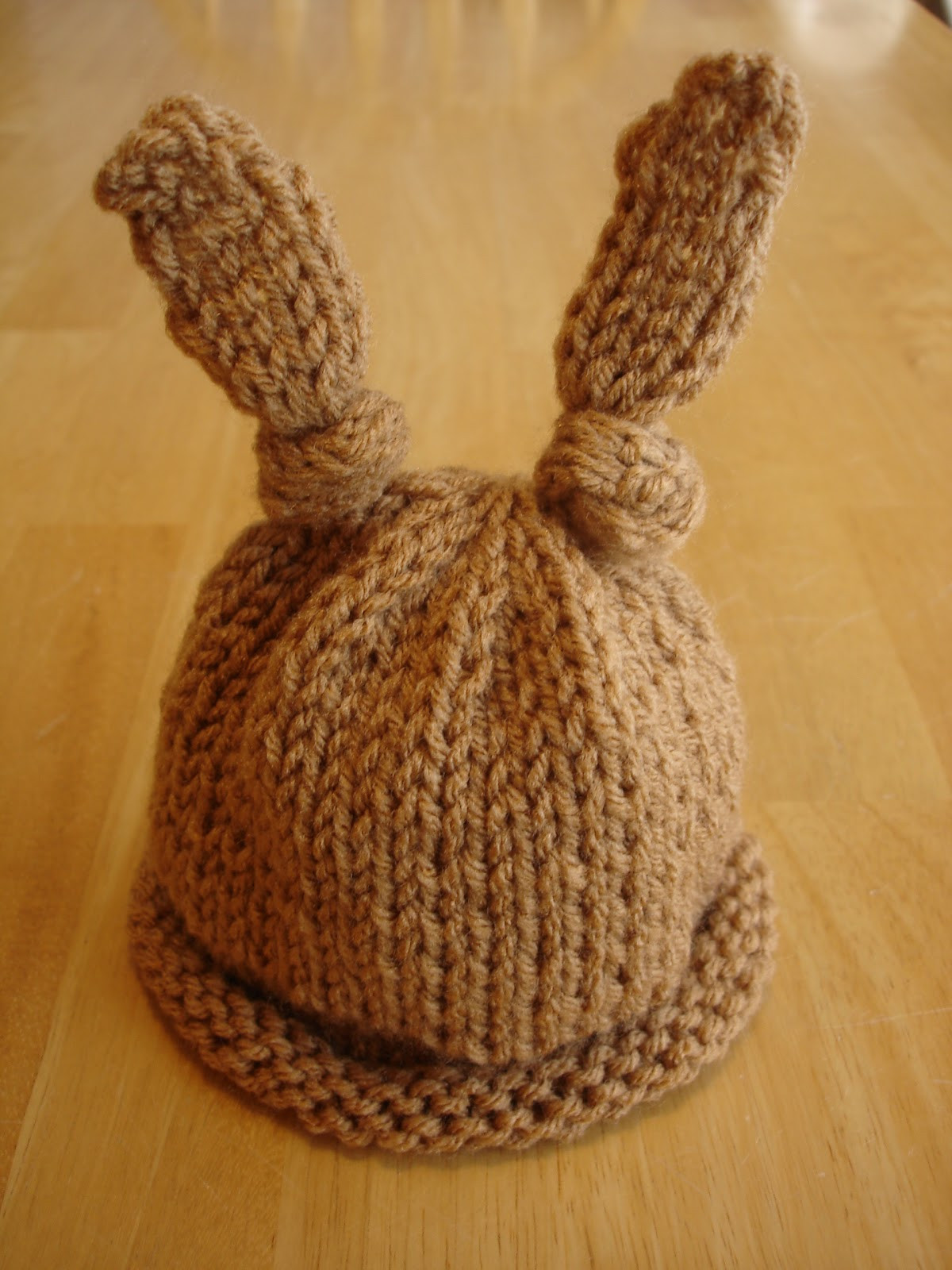 Luxury Fiber Flux Free Knitting Pattern Baby Bunny Newborn or Newborn Hat Pattern Of Great 46 Models Newborn Hat Pattern