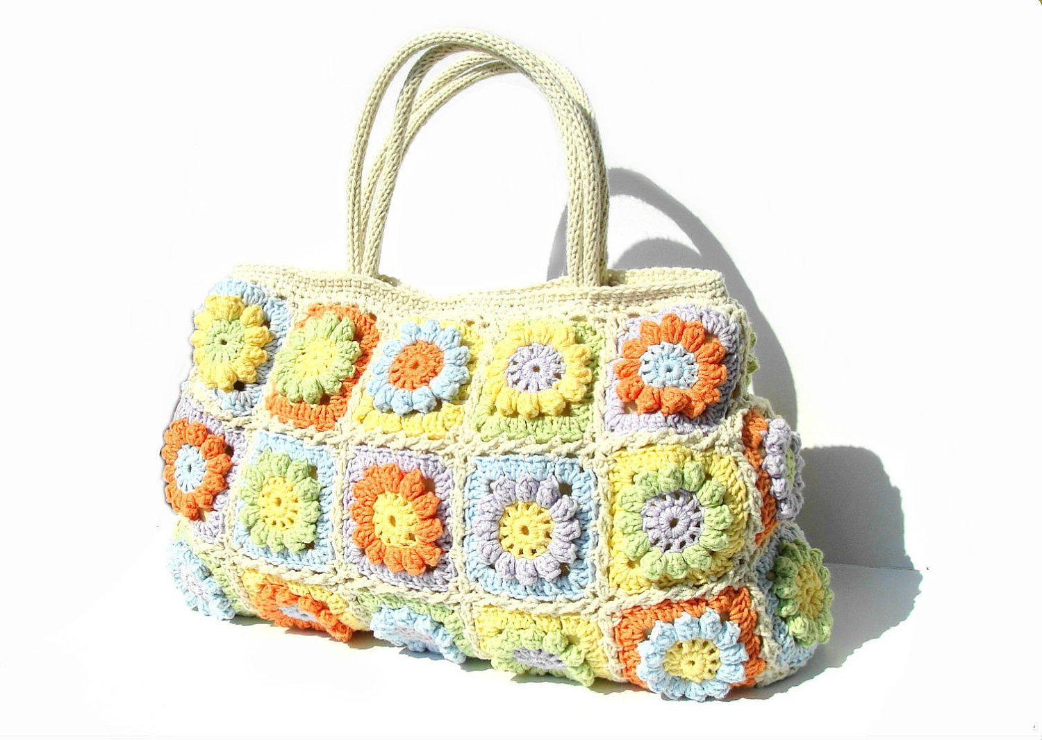Luxury Flowers Summer Bag Crochet Handbag Crochet Bag In Bright Crochet tote Of Adorable 41 Images Crochet tote