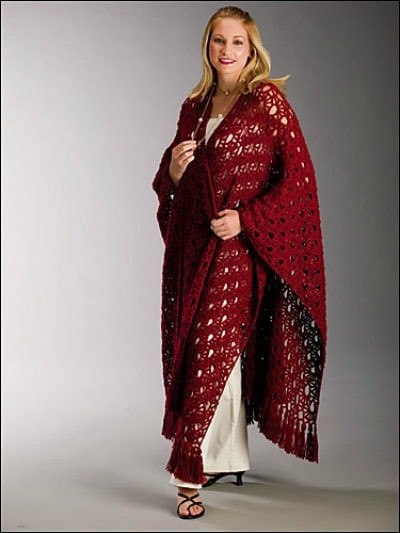 fortable Ruana Wrap Pattern Collection Cre8tion Crochet