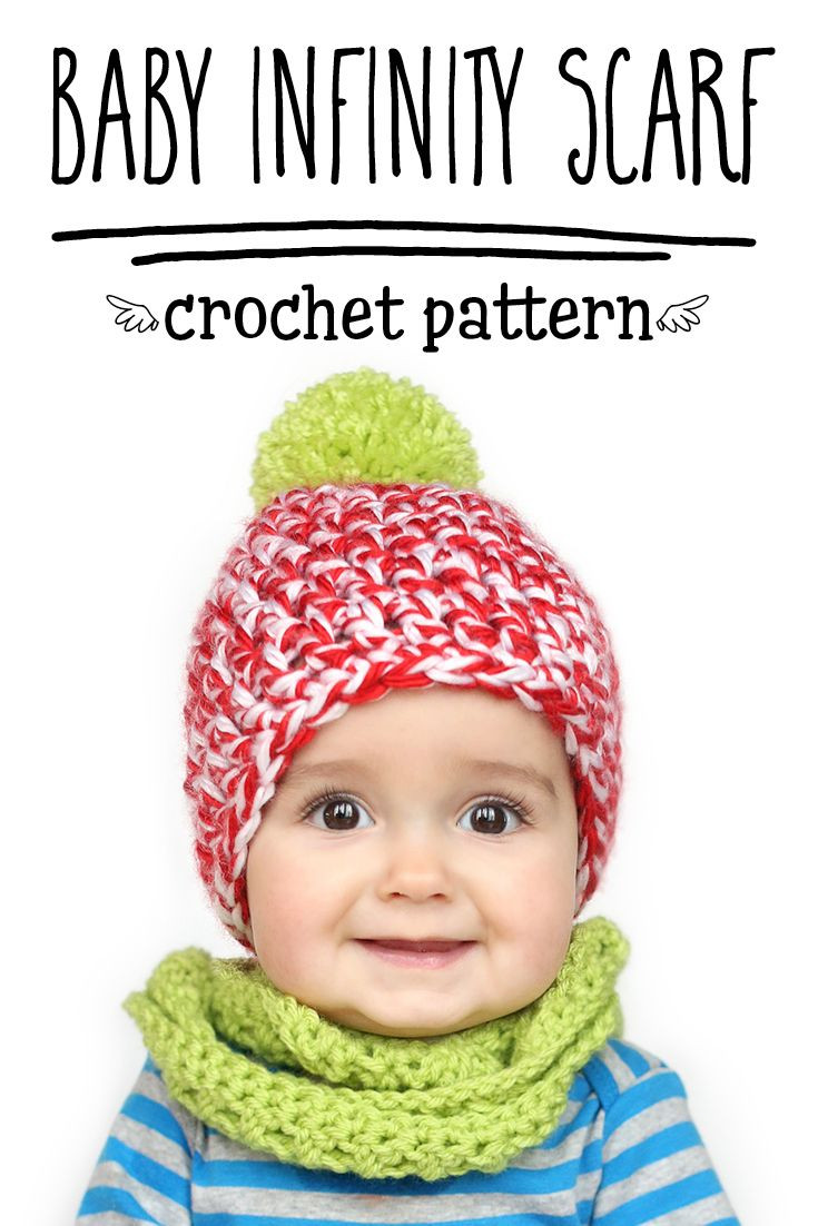 FREE Baby & Toddler Sized Infinity Scarf Crochet Pattern