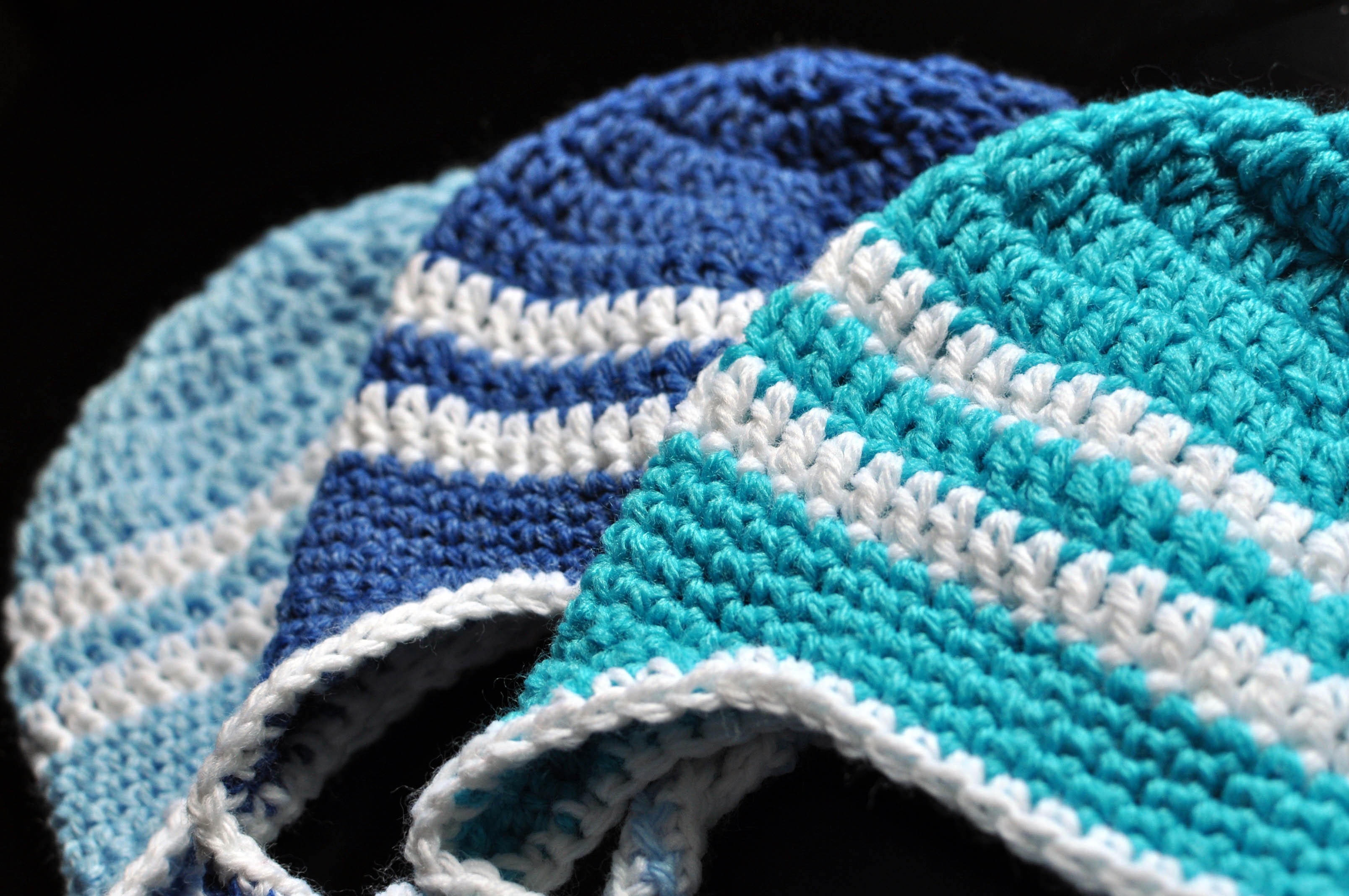 Free Crochet Pattern Striped Earflap Hat