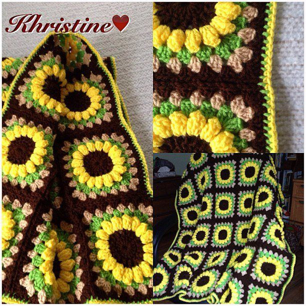 Luxury Free Crochet Pattern Sunflower Afghan Dancox for Sunflower Crochet Blanket Of Contemporary 48 Ideas Sunflower Crochet Blanket