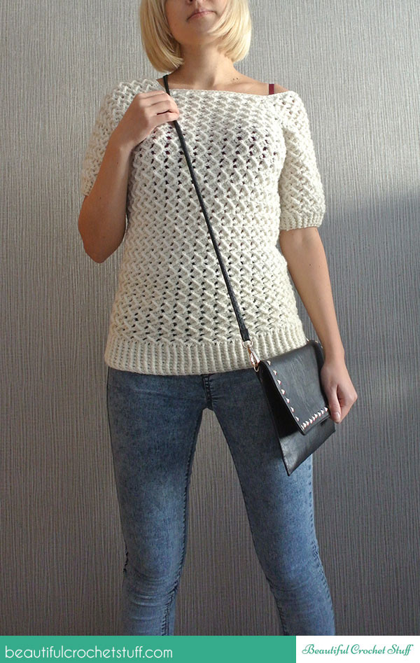 Luxury Free Crochet Sweater Pattern White Crochet Sweater Of Wonderful 44 Ideas White Crochet Sweater