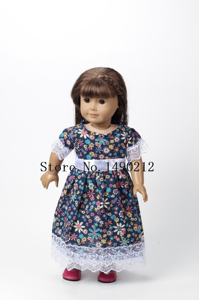 Luxury Free Shipping 5pcs New Style Popular 18 Inches American Girl Christmas Dress Of Lovely 47 Models American Girl Christmas Dress