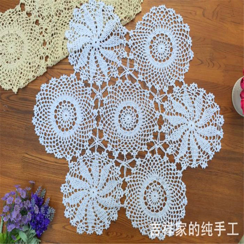 Luxury Free Shipping 60cm Round Cotton Crochet Table Runner for Crochet Table Runners Of Gorgeous 50 Models Crochet Table Runners