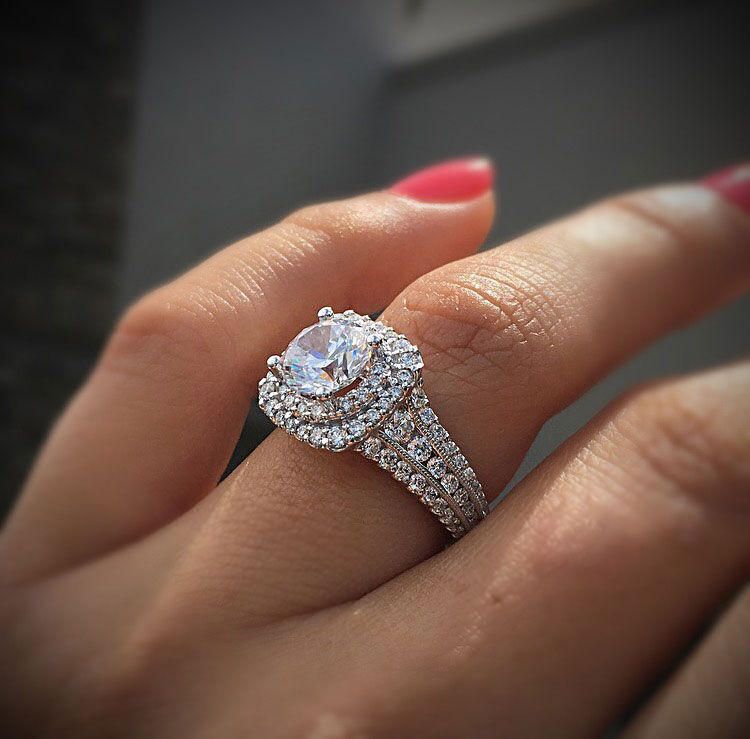 Luxury Gabriel & Co Engagement Rings Double Halo 1ctw Diamonds Double Wedding Ring Of Perfect 40 Photos Double Wedding Ring